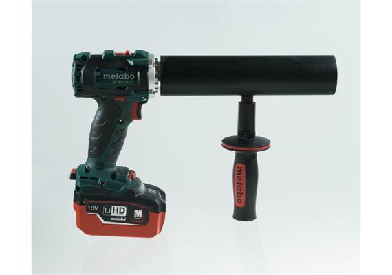 Akkubohrmaschine Metabo Handgriff angepasst auf LRS-Klemmstück BS 18 LTX BL Q I