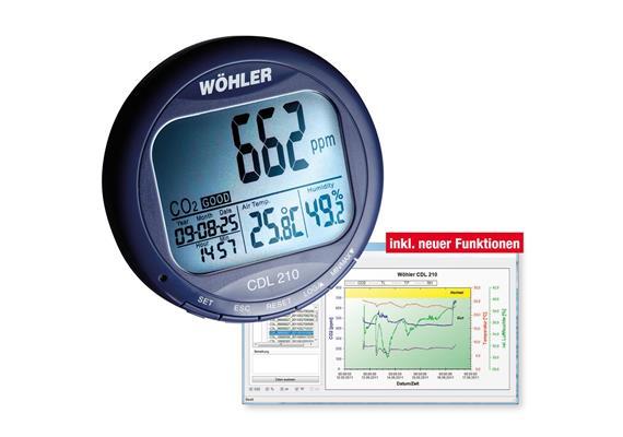 CDL 210 Datenlogger für CO2, Temperatur und Feuchte