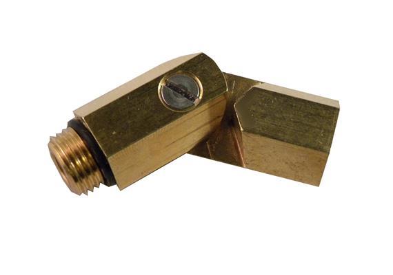 Gelenkdüse für Spritzrohre mit 2 O-Ringen 9 x 2mm