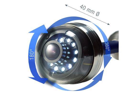 Kamerakopf VIS 40mm farbe, dreh/schwenkbar