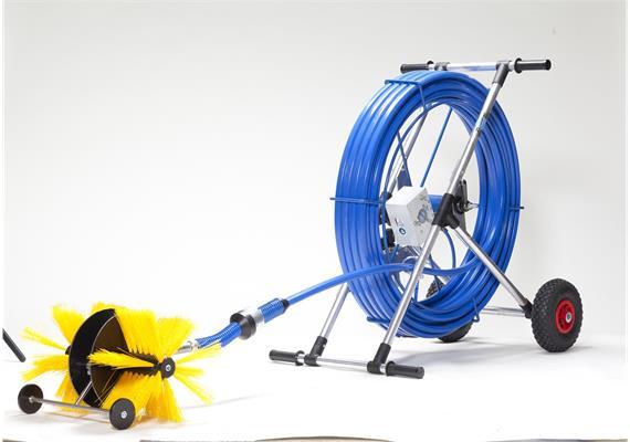 T- Adapter für Flachkanäle mit Bürstenaufnahme und Support